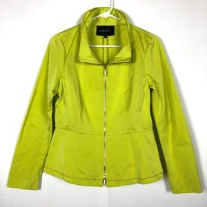 Lafayette 148 NY Lime Green Jacket Peplum Back